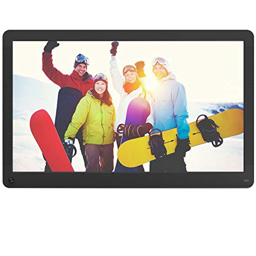 Atatat Digital Picture Frame 17.3 inch with Motion Sensor, 1920x1080 FHD Screen, Digital Photo Frame Support 1080P Video, Music, Slideshow, Adjustable Brightness, Breakpoint Play, Auto-Rotate,Calendar