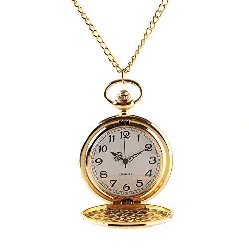 J-Love Reloj Bolsillo Steampunk Tren Motor Locomotora Oro Vintage para Hombres y...