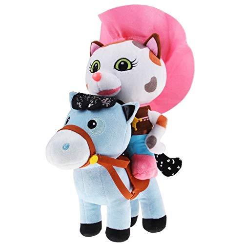 nOBrAnD 2pcs / Lot Sheriff Callie's Wild West 25cm Cowboy Callie Cat 20cm Pony Horse Peluches Muñeca Peluches Juguetes Regalo
