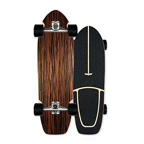 VOMI 30 '' Beginner Skateboard Land Surf Completo Cruiser Monopatín Camión de Tallado CX4 7 Capas de Arce de Nivel Surfskate para Adolescentes Niñas Niños Adultos Deportes Extremos al Aire lib,C