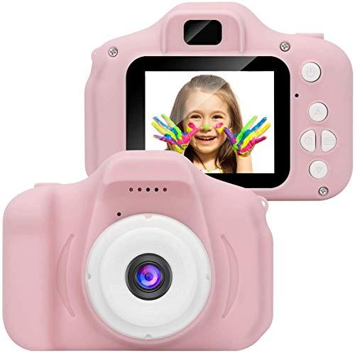 1080P HD Kids Camera Cámara Digital con Pantalla LCD de 2 Pulgadas Tarjeta de 32G TF para niños-Pink-A3