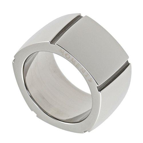 M & M Georg Plum Designer Di Anello signora anello Band anello acciaio inossidabile 5436r4–11, acciaio inossidabile, 50 (15.9), colore: argento, cod. 5436R4-11