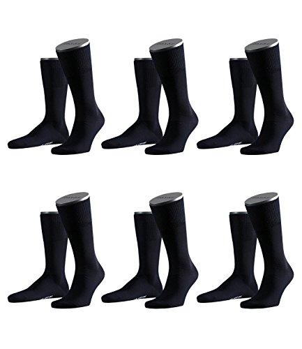 FALKE Herren Airport Socken Strümpfe 14435 6 Paar, dark navy-6370, 43/44