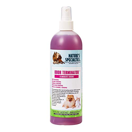Nature's Specialties Deodorizing Dog Spray for Pets, Ready to Use, Made in USA, Odor Terminator,...