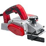 Dekaim Cepillo eléctrico manual 1100 W, 220 V, profundidad de 2 mm, ancho de la cepilladora 82 mm, con cepillos de carbón de repuesto y cepillo de repuesto
