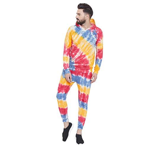FUGAZEE Men's Tie and Dye Sweatshirt and Joggers Combo Suit