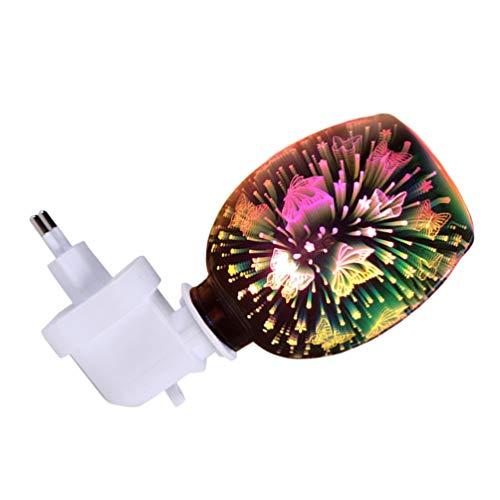 SOLUSTRE Cera di Fusione Spina in Fragranza Scaldino 3D Elettrico in Vetro Candela Cera Si Scioglie Warmer per Cera Profumata Diffusore di Fragranza Più Caldo di Notte Luce Decorativa