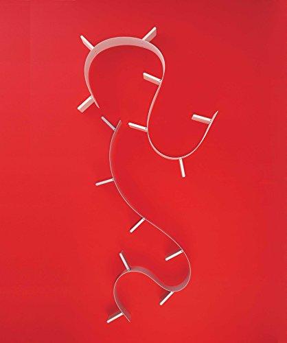 Kartell 800303 Bookworm - Scaffale per libri a 7 reggilibri, Colore: Bianco