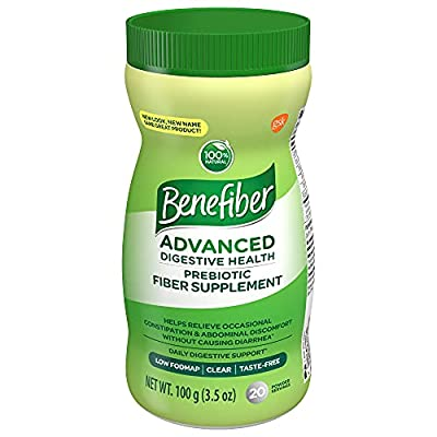 Benefiber Advanced Prebiotic Fiber Supplement Powder for Digestive Health, 3.5 Ounce