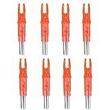 JujubeZAO 8 Stück Universal Stylische beleuchtete Pfeilspitzen LED Glow Bogenschießen Zubehör...