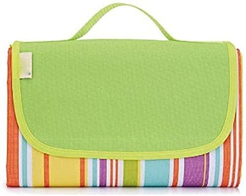 ZRDSZWZ Manta de picnic fiable para exteriores, portátil, a prueba de humedad para acampar, tela de picnic impermeable, verde, 200 x 195 cm, manta de picnic plegable (color: rojo) (color: verde)