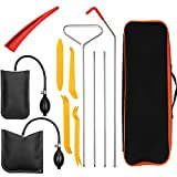 13pcs Essential Automotive Car Tool Kit with Air Wedge, Long Reach Grabber, Multifunctional Tool Set for Cars Trucks