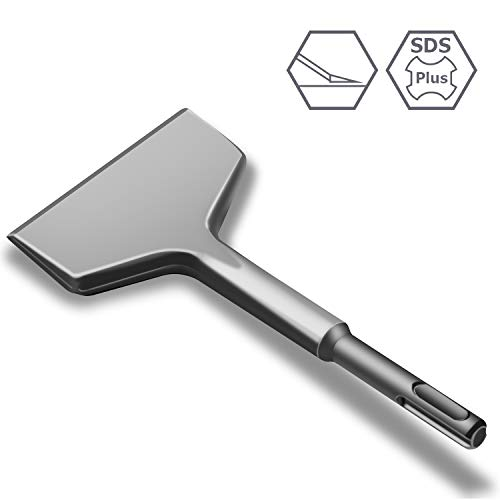 Gimars Fliesenmeißel, Ffliesenmeissel sds plus,165mm x 75mm Sds plus Meißel,optimierte Geometrie,sds meißel zum Fliesen entfernen für Bohrhammer