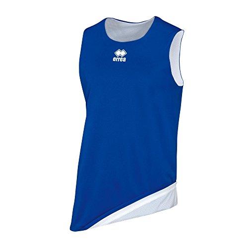 Errea Chicago Double, Camiseta Deportiva Unisex para niños, Unisex niños, Dm0Q1Z, Azzurro Bianco, YXS