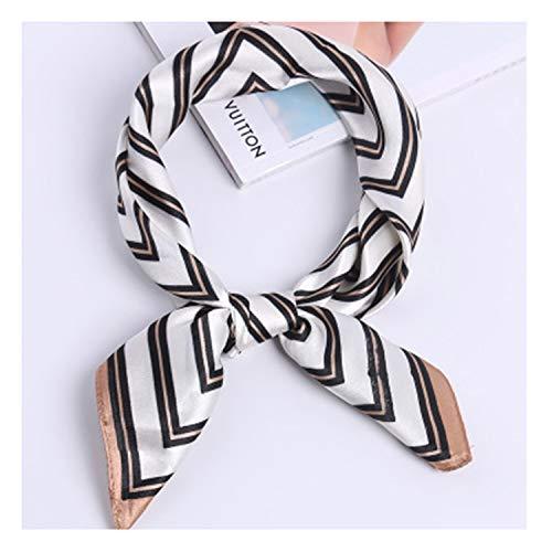 Catcat 60 * 60Cm Square Scarf Hair Tie Band Skinny Scarf Retro Head Neck Silk Scarf, Square Scarves FJ023 34 60x60cm