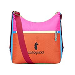 Re-purposed nylon main body construction. Zippered closure. Adjustable shoulder strap. Zippered organization pocket. Internal water bottle pouch. 14 x 5 x 12.5 in (35.5 x 12 x 31.75cm) - 16L - 9.4oz (268g) ONE OF A KIND! Each Del Dia product is made ...