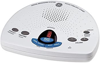 GE 29875GE1 Digital Messaging System with Voice Time and Day Stamp - White