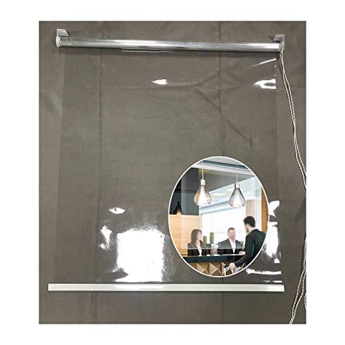 Cortina impermeable transparente, persianas de rodillos de partición de ventana transparente, PVC de 0.5mm a prueba de viento a prueba de polvo caliente, para ventanas / puertas para el hogar, Pergola
