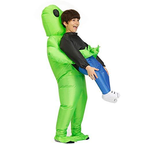 TOOGOO Alien Aufblasbare KostüMe KostüM Halloween Cosplay Fantasy KostüM für Kinder