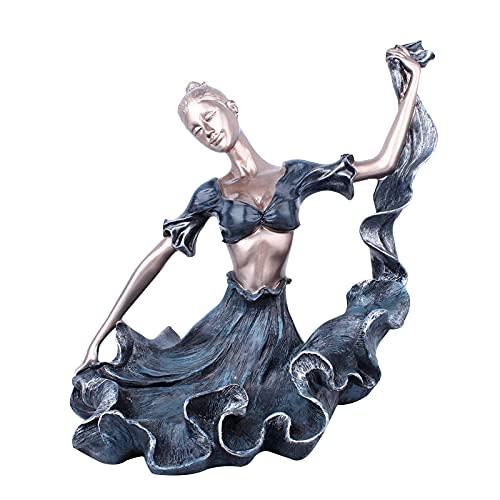 PARA OFICINA JARDÍN HABITACIÓN FAMILIA ARMENTA ARNPENTES FIGURINAS ARTE REGALO REGALO DE LA ESTATURA DE LA ESTATUA DE LA ESTATUA DE LA ESTATUA, Adornos de la estante de vino Dancing Girl Figurines Dec