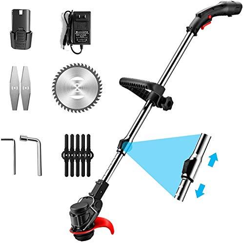 DEALRITE Cortadora de césped eléctrico de 48 V, cortadora de césped sin cable, kit de cortador de poda, herramientas de jardín, con batería 4500 ma.
