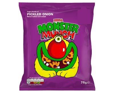 Mega Monster Munch Pickled Onion Flavour Baked Corn Snack (68g x 12)