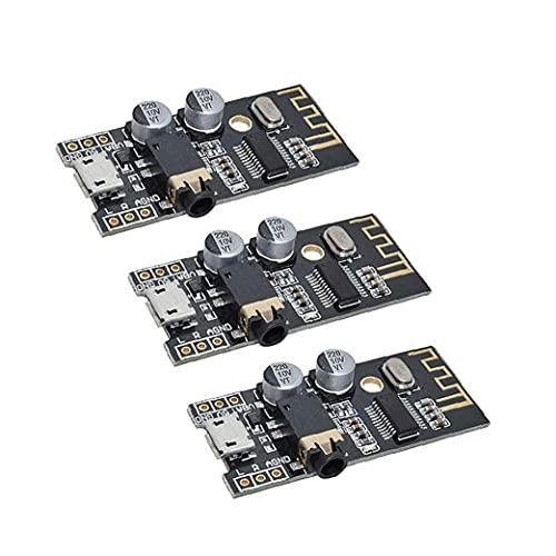 Módulo receptor de audio inalámbrico Bluetooth MP3 M28 Junta 4Wireless estéreo regulador de sonido Módulo Negro 3PCS
