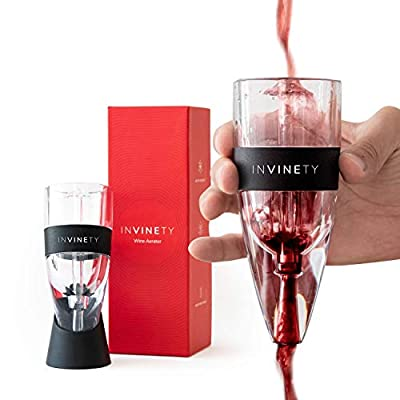 Wine Aerator by Invinety | All in one Diffuser, Decanter and Oxygenator | Enhance Wine Flavors with a Smoother Finish | Premium Aerating Decanter