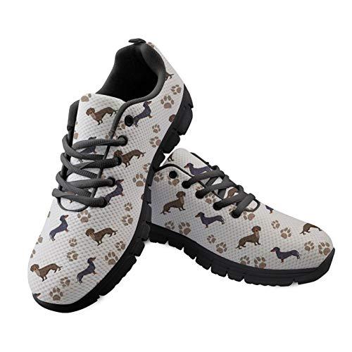 HUGS IDEA Zapatillas deportivas de malla para mujer, diseño floral, para enfermera,...