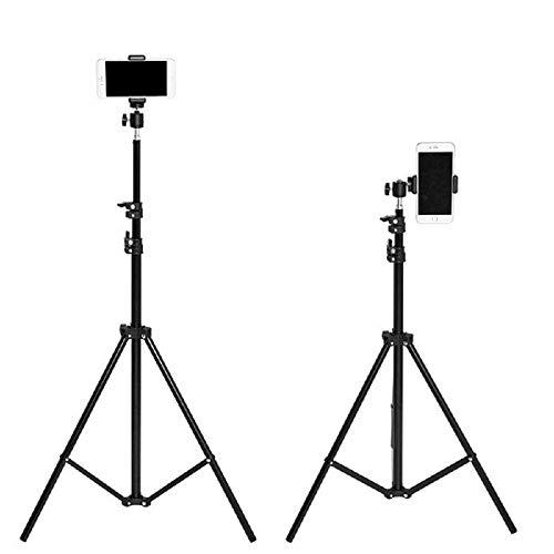 Mindfied 5.5 Feet Mobile Phone Tripod Stand Umbrella Flash Portable Foldable Combo Light Stand for Photography for tiktok Video Photo Studio Shooting (Black)