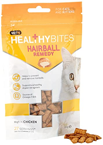 Mark & Chappell Snacks Funcionales para gatos - Remedio para bolas de pelo