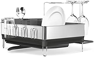 simplehuman Kitchen Steel Frame Dish Rack With Swivel...