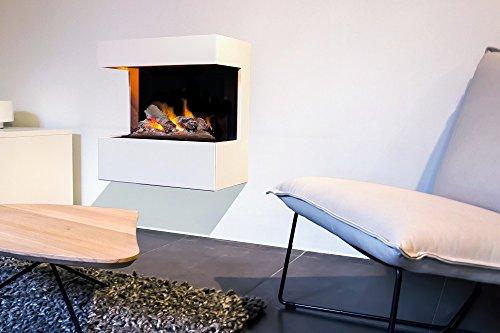 RUBY FIRES Hängekamin Elektrokamin NOVA weiß, 62 x 60 x 30 cm