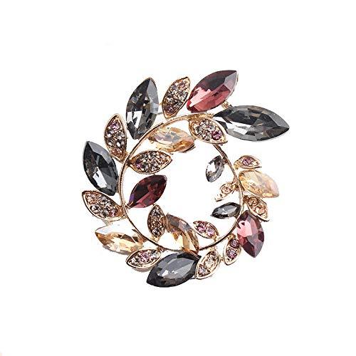 Broches de aceitunas de cristal con diamantes de imitación, broche Unisex para...