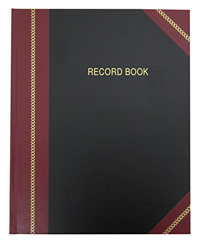 """BookFactory Record Book/Professional Record and Account Notebook/College Ruled Notebook - 96 Ruled Pages (8"""" x 10"""") Smyth Sewn Hardbound (RA-096-SRS-A-LKMST15)"""