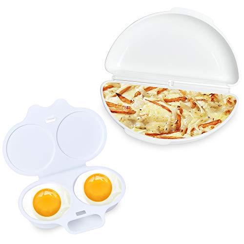 Easy Egg Breakfast Set Akamino Microwave Omelet Pan and Egg Poacher - BPA Free Egg Maker Easy To Use and Non-Stick Breakfast Egg Cookware