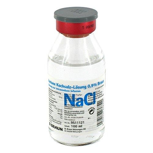 Kochsalz 0,9% Isotonisch Glasflasche, 100 ml