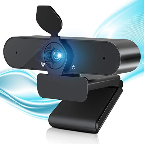 2560P Webcam with Microphone & Privacy Cover, A-ZONE 4MP QHD Web Camera for Computer Desktop Laptop, 2K USB Streaming Webcam Plug and Play, Webcam for Video Calling Recording Conference