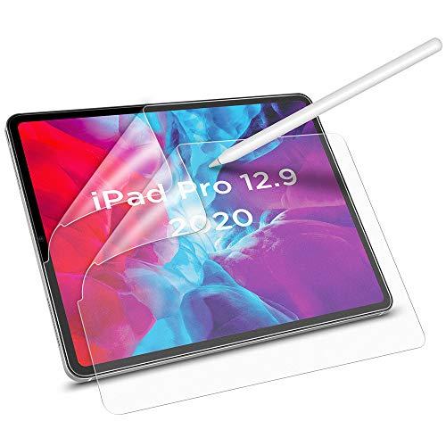 """ESR 2 Stück Papiertraum Display Schutzfolie für iPad Pro 12,9"""" 2020 [Unterstützt Apple Pencil] [Schreiben/Zeichnen wie auf Papier] Blendfreie Matte PET Folie für iPad Pro 12,9-Zoll 2020 (Nicht Glas)"""