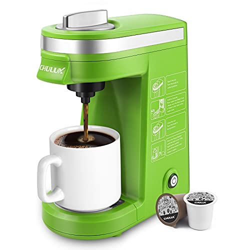 CHULUX Single Serve Coffee Maker with Removable Drip...