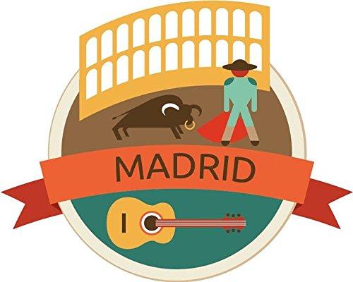Madrid Spain World City Travel Label Badge Vinyl Decal Bumper Sticker/Pegatina
