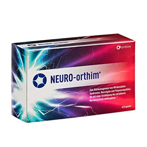 NEURO-orthim® - mit Uridin, Cytidin, Folsäure & Vitamin B12 bei Wirbelsäulen-Syndromen, Neuralgien & Polyneuropathien (40 Kapseln)