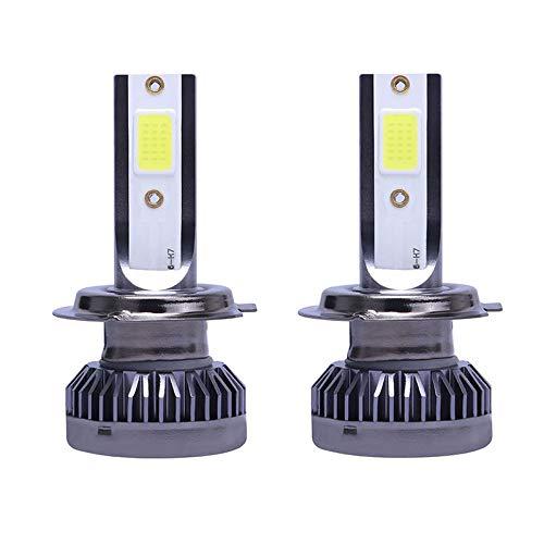 WOVELOT 2Pcs 1400W Kit de ConversióN de Bombillas de Faros LED Luces de ConduccióN Fog LáMparas Hi-Low DRL 6000K Blanco-Plug y (H7)