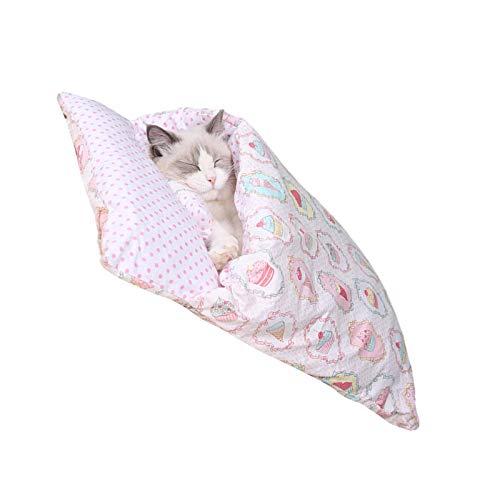Seasons Shop Katze Schlafsack Erwärmung Waschbare Haustierbetten Kuschelsack Decke Matte Für Katzen, Kleintiere Oder Welpen
