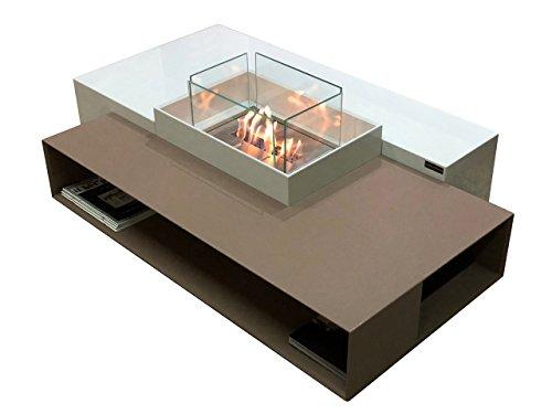 Mesa auxiliar moderna de bioetanol / biochimenea / chimenea de bioetanol / chimenea bioetanol en Lapitec y bio blaze