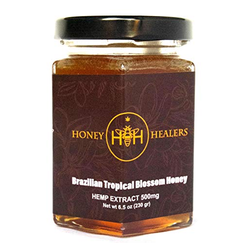 Best Buy! Honey Healers Honey Tropical Blossom Hemp Extract 500mg. Zero THC - 6.5oz.