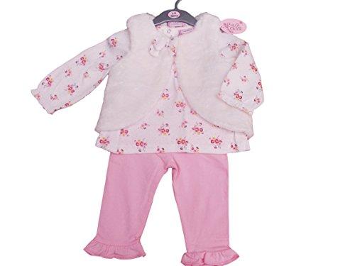 BNWT Gilet d'hiver 3 pièces en fourrure pour bébé fille 12-18 mois