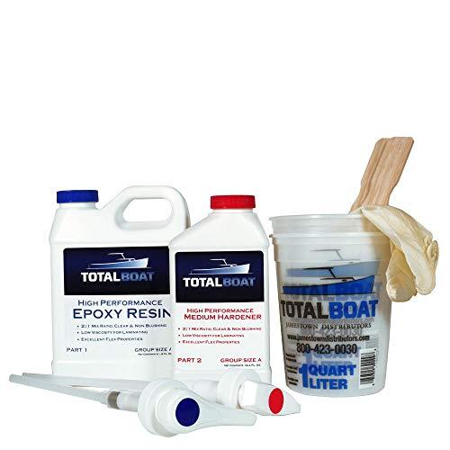 TotalBoat-510822 High Performance Epoxy Kit, Crystal Clear Marine...