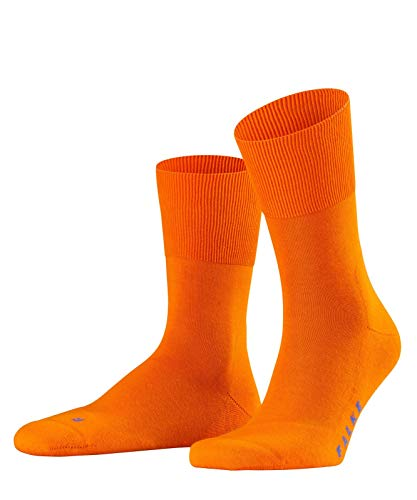 FALKE Unisex Run Ergo Unisex Baumwoll Strümpfe Einfarbig 1 Paar Socken, Orange (Bright Orange 8930), 42-43 EU