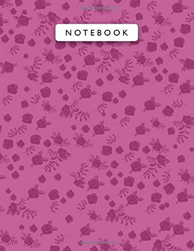Notebook Barbie Pink Color Mini Vintage Rose Flowers Patterns Cover Lined Journal:...